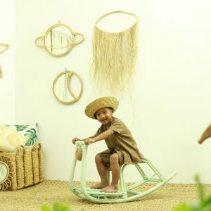 Colby Rattan Rocking Horse