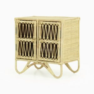 Mini Kids Rattan Small Cabinet
