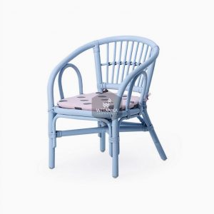 Jimmy Kids Rattan Chair Blue