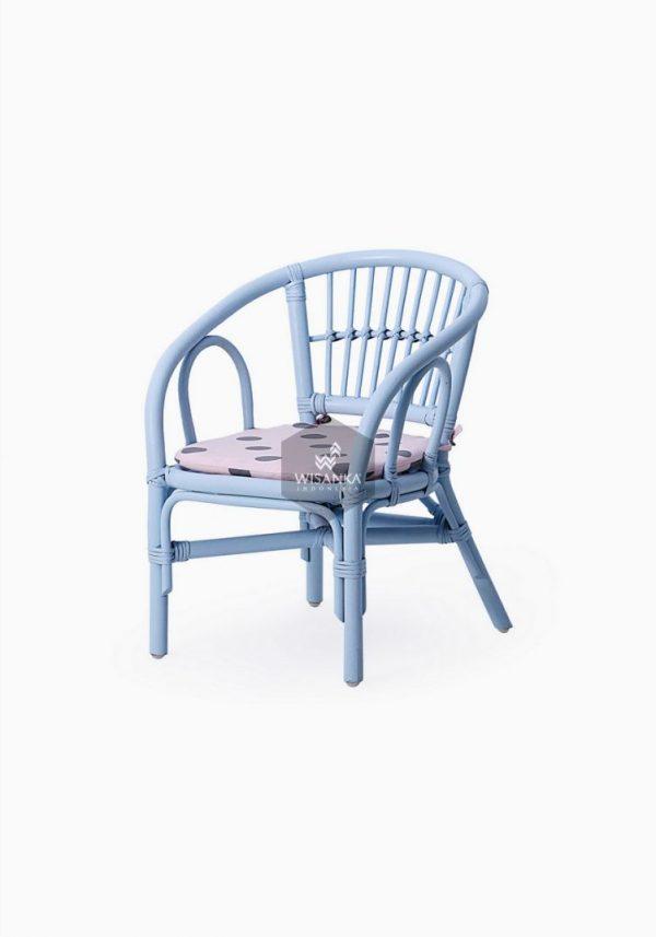 Jimmy Kids Rattan Chair Blue