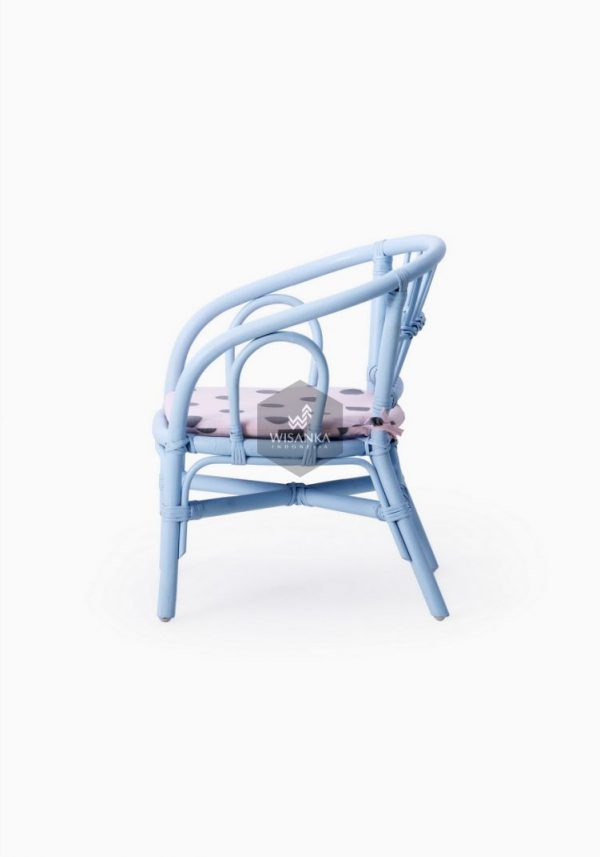 Jummy Kids Rattan Chair Samping