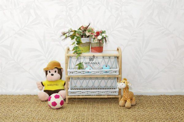 Kia Kids Rattan Shelf Front