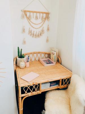 Rattan Child's Desk