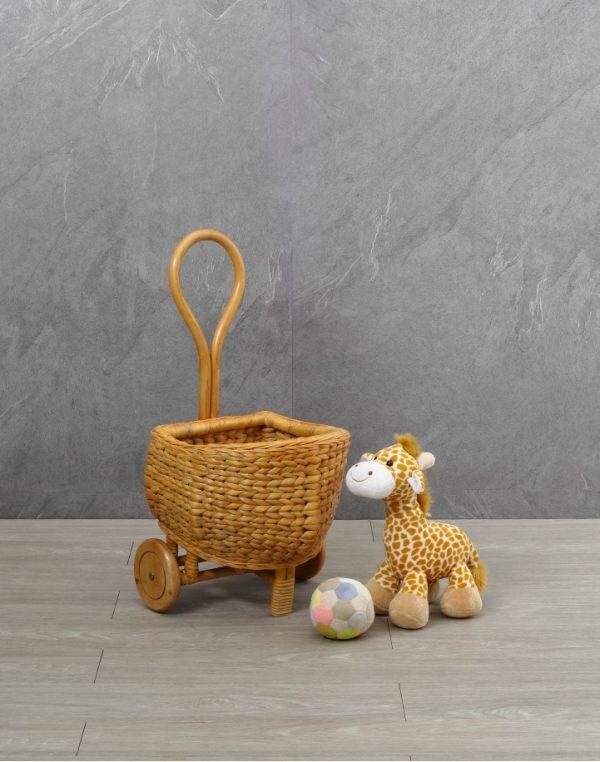 Fiona Kids Toy Wicker Shopping Trolley
