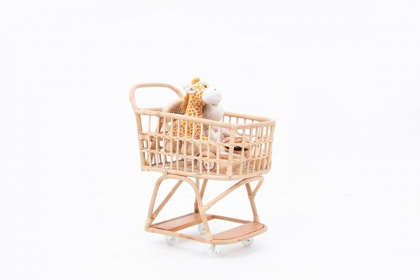 Vanessa Dolls rattan Shopping Cart