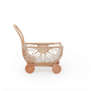 Zia rattan doll stroller