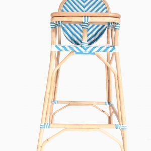 Blue Rattan Feeding Chair