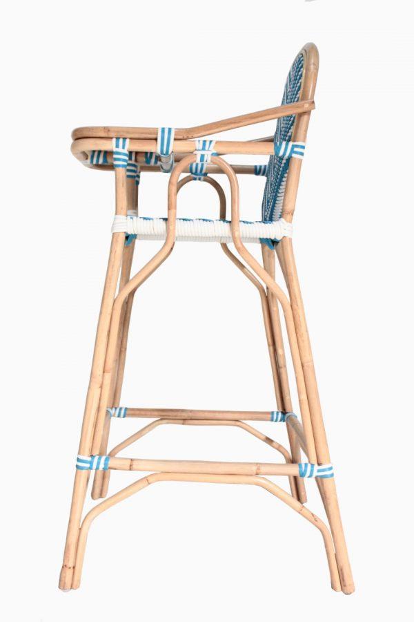 Blue Wicker Baby Chair