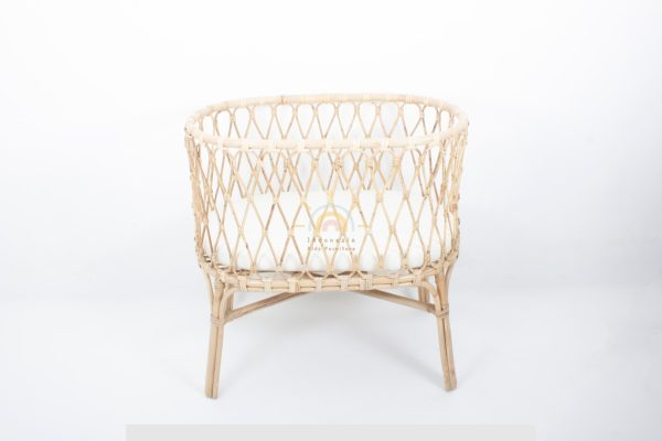 Oval Rattan Baby Crib